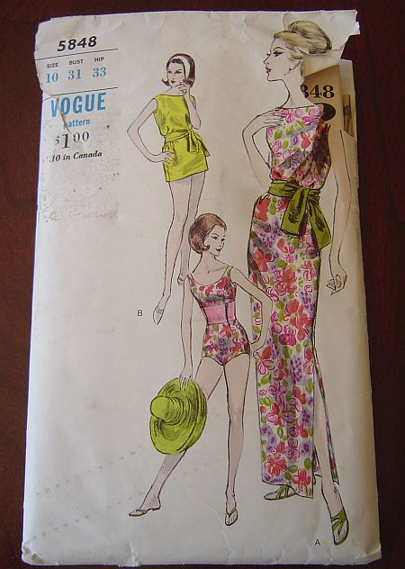 d8d307b948 Vintage Swimsuit, Beach Wear & Lingerie Sewing Patterns