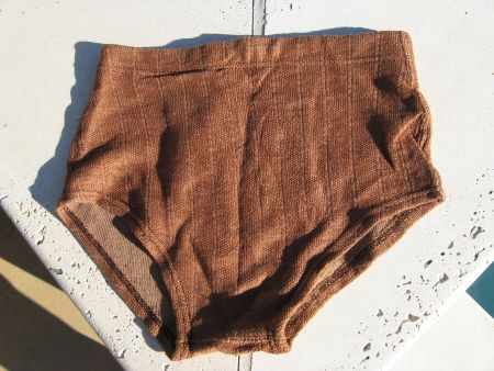 40ba69749e Vintage 40's mens Shimmering Bronze Lastex Swim Trunks Swim Suit S/M. View  Images