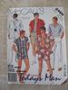 Vintage 80s Mens Swimsuit, Shorts, Pants and Shirt Pattern sz M 38-40 UNCUT