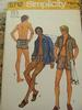 Vintage 70s Simplicity 5712 Teen Boys Unlined Jacket, Swim Shorts and Hip Hugger Swim Shorts Pattern sz 14 C32