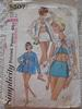 Vintage 60s Simplicity 5507 Junior and Misses Bathing Suit and Beach Jacket Pattern sz 14 B34