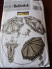 Retro Style Parisol Umbrella Pattern Butterick B4955 Pattern