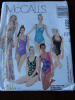 Vintage 90s Misses One Piece Bathing Suits and Pareo Pattern size 16 B38 Uncut