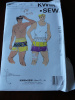 SOLD - Vintage 80s Kwik Sew 1872 Mens Swim Trunks & Shorts Pattern sz S-XL UNCUT