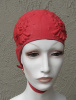 NEW with package US HOWLAND Circus Themed Red Rubber Swim Cap with Strap Childs 20""