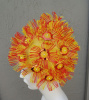 SOLD - Vintage 60s Playtex Yellow Orange Sequin Petal Swim Cap