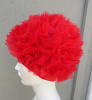 Vintage Red Nylon Petal Cap