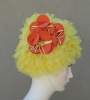 SOLD - NOS KLEINERTS Sava Wave Yellow Ruffled Floral Swim Cap sz Average
