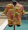 Vintage 60's Loop Collar Combed Cotton Bright Shirt L