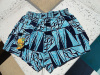 NEW Vintage 60s Blue Tapas Print Swim Trunks size L