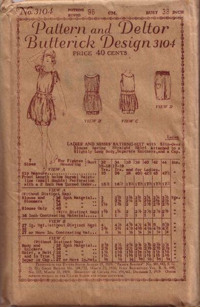 dbda8d4b0a Vintage Swimsuit, Beach Wear & Lingerie Sewing Patterns