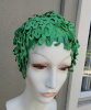 SOLD - Vintage 60s Kleinerts Olympic Sava Wave Green Rubber Swimcap size Large