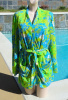 SOLD - Vintage 70s Catalina Floral Nylon Belted Cover Up Size L