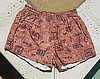 Vintage 50s Ethnic Print Cotton Swim Trunks M