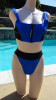 SOLD - Vintage 90s BODY GLOVE Two Piece High Waist Neoprene Spandex Bikini Swimsuit sz 7/8