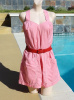Vintage 40s Queen Casuals Pink Cotton Romper Playsuit size 20 B38
